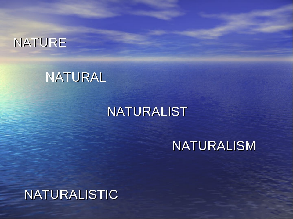 NATURE NATURAL NATURALIST NATURALISM NATURALISTIC