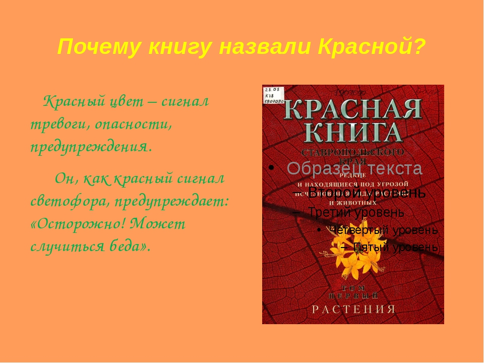 Почему книгу назвали Красной? Красный цвет – сигнал тревоги, опасности, преду...