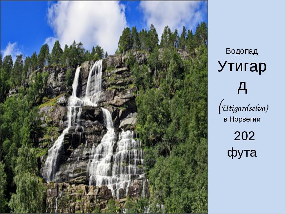 Водопад Утигард (Utigardselva) в Норвегии 202 фута