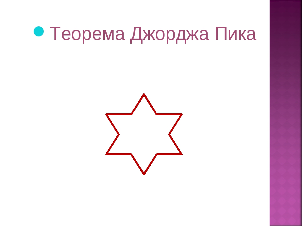 Теорема Джорджа Пика    ...
