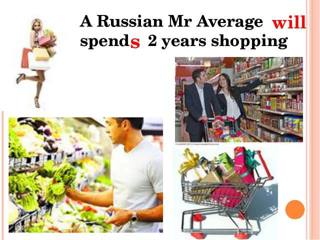 . . A Russian Mr Average spend 2 years shopping will s
