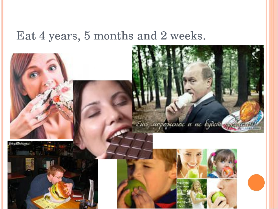 Eat 4 years, 5 months and 2 weeks.