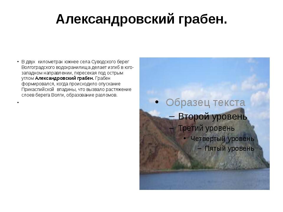 Александровский грабен. В двух километрах южнее села Суводского берег Волгогр...