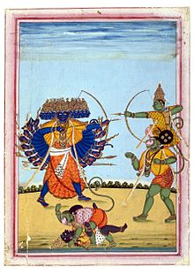 http://upload.wikimedia.org/wikipedia/commons/thumb/d/d7/Rama_and_Hanuman_fighting_Ravana%2C_an_album_painting_on_paper%2C_c1820.jpg/220px-Rama_and_Hanuman_fighting_Ravana%2C_an_album_painting_on_paper%2C_c1820.jpg