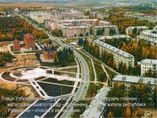 Улице Узбекистанская. Эту улицу, призванную разгрузить главную магистраль наш