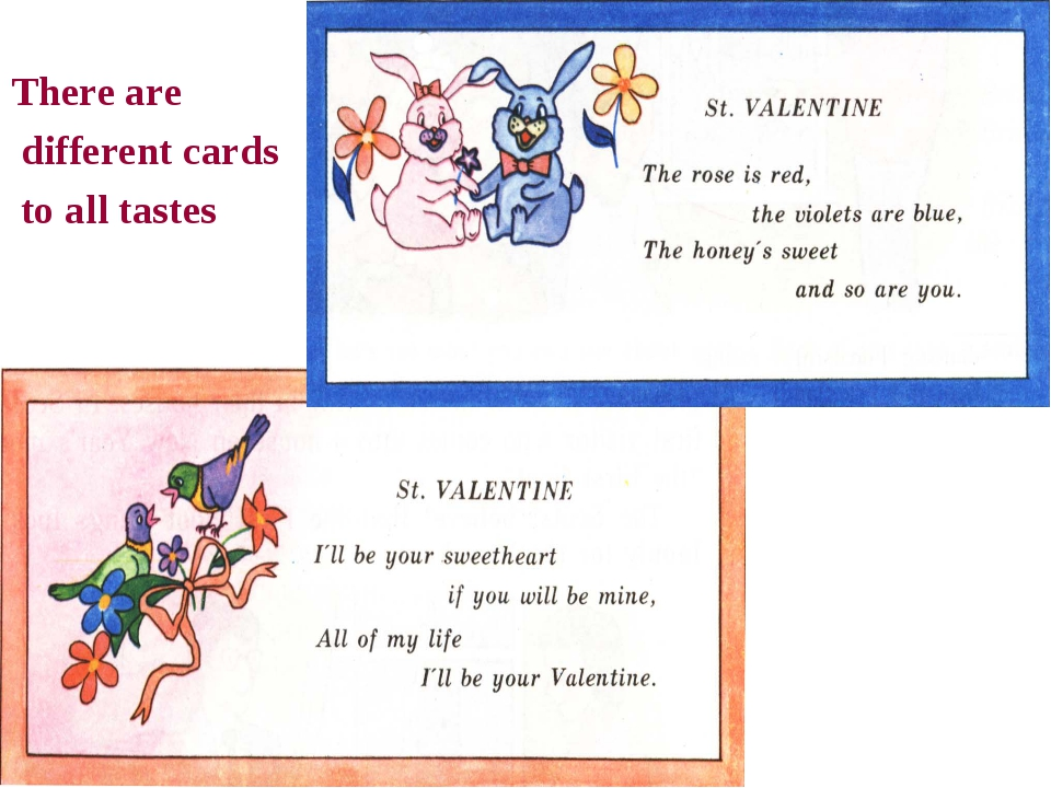 There are different cards to all tastes