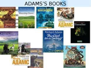 ADAMS'S BOOKS