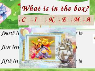 What is in the box? Check your answer! 1 The fourth letter in 4 The second le