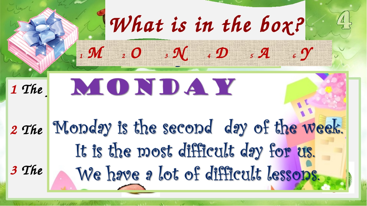 What is in the box? Check your answer! 1 The first letter in 4 The fifth lett...