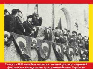2 августа 1914 года был подписан союзный договор, отдавший фактическое коман