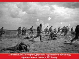 1-й батальон 14-го гренадерского грузинского полка под шрапнельным огнем в 19