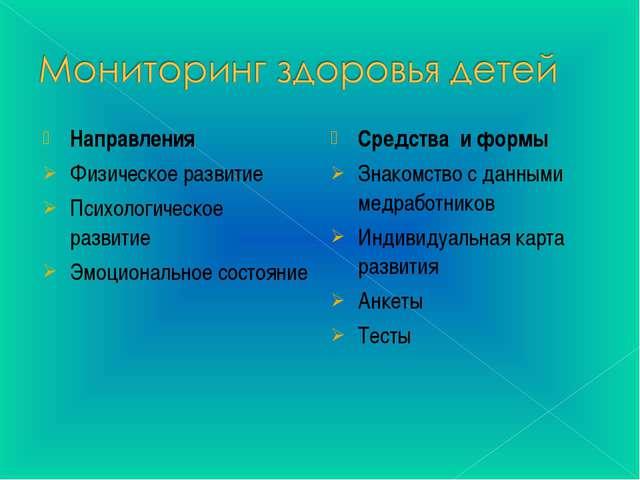 Средства и формы Знакомство с данными медработников Индивидуальная карта разв...