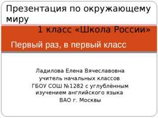 Ладилова Елена Вячеславовна учитель начальных классов ГБОУ СОШ №1282 с углубл