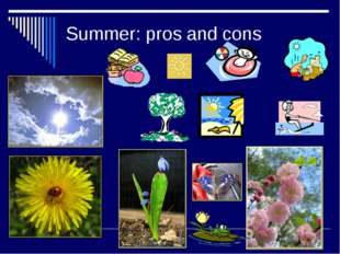 Summer: pros and cons