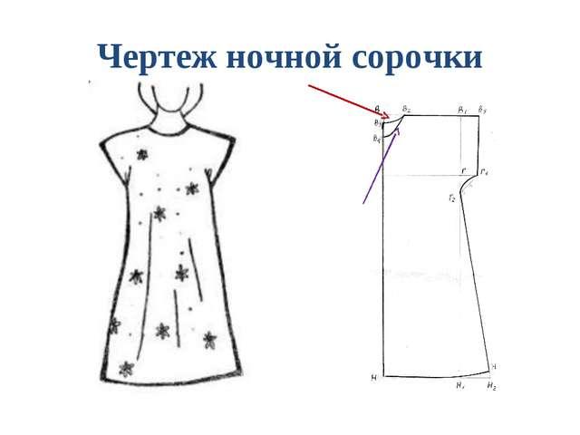 Как сделать чертеж ночной сорочки 6 класс