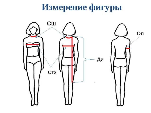 Сш Сг2 Ди Оп Измерение фигуры