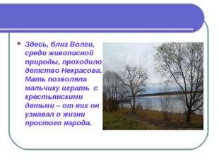 Здесь, близ Волги, среди живописной природы, проходило детство Некрасова. Мат