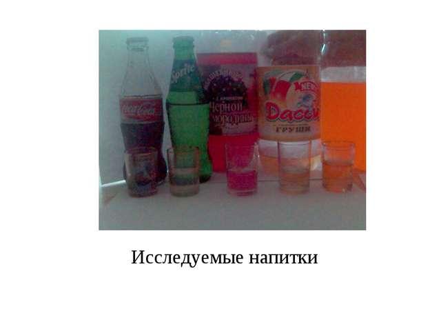 Исследуемые напитки