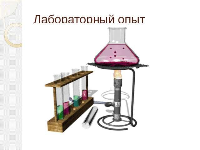 Лабораторный опыт