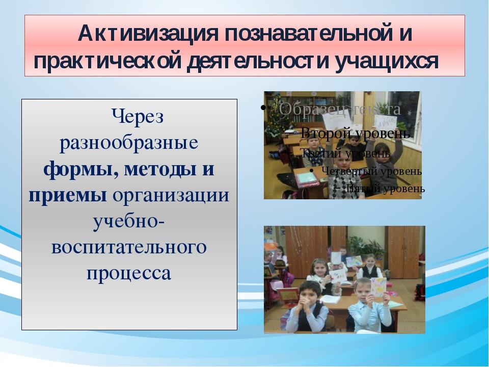 Активизация познавательной и практической деятельности учащихся Через разнооб...