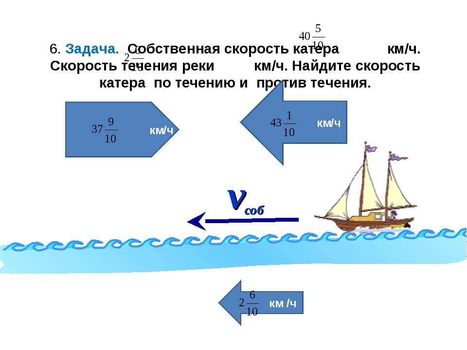 нахождение собственной скорости лодки