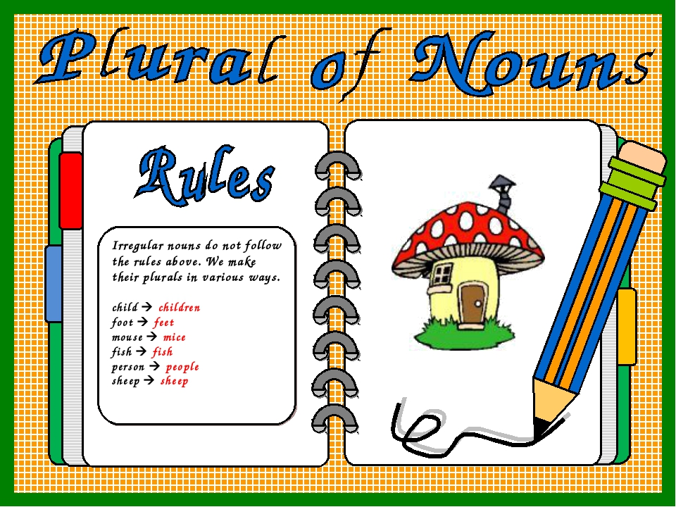 Irregular nouns do not follow the rules above. We make their plurals in vario...