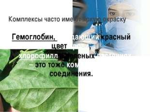 Гемоглобин, придающий красный цвет крови, хлорофилл в зеленых растениях – это