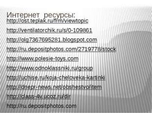 Интернет ресурсы: http://ost.teplak.ru/frm/viewtopic http://ventilatorchik.ru