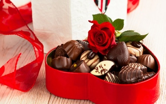 шоколад, еда, роза, Конфеты, коробка, сладкое, десерт