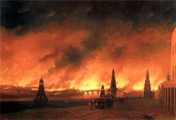 Иван Айвазовский, пожар Москвы в 1812 г