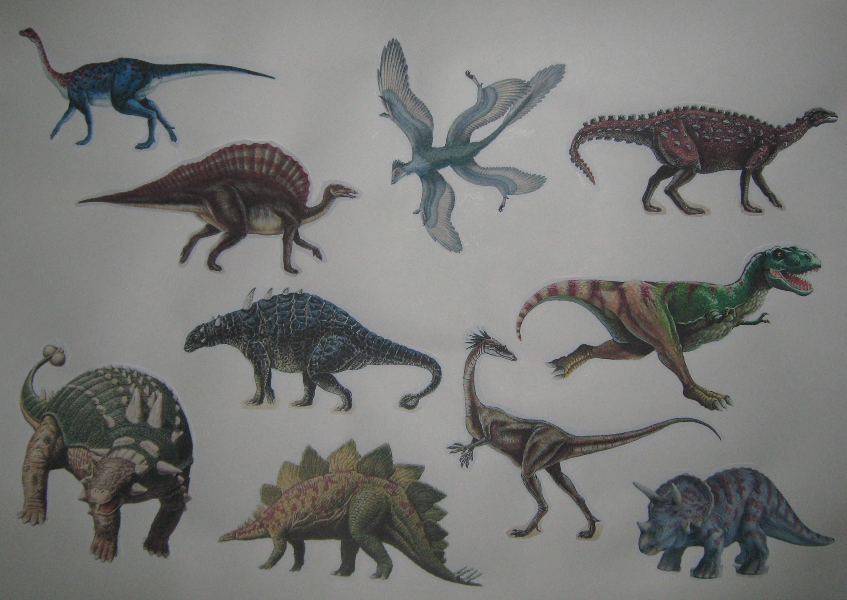 Картинки всех динозавров и их названия фото надзору