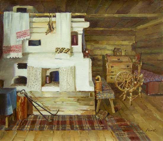 Eskov - Interyer krestyanskoy izby 44x52 co 2006