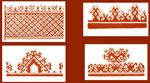 Растительный мотив на марийском орнаменте