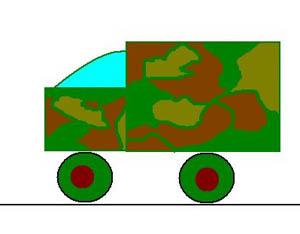 Рис. Военный грузовик