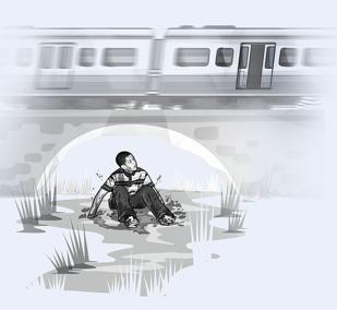 Мальчик, выпрыгнувший из поезда