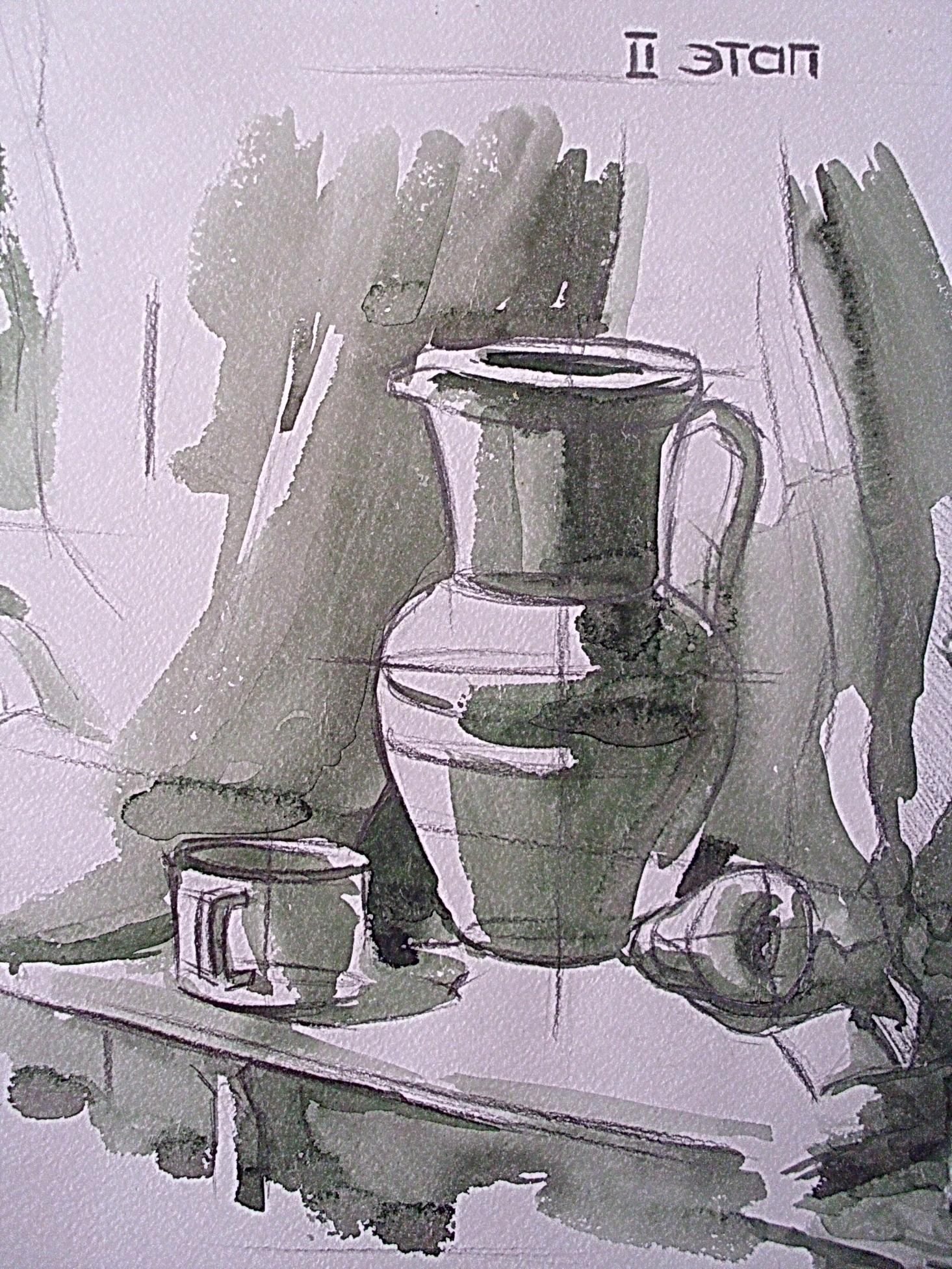 Конспект урока 2 класс тоновой рисунок натюрморта из предметов быта