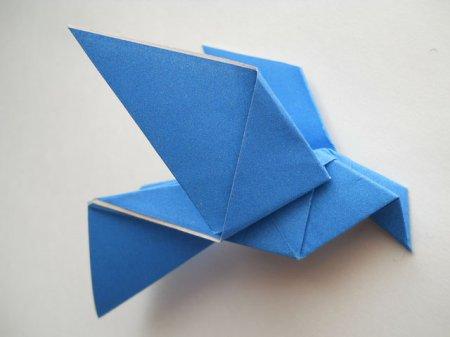 оригами голубь схема