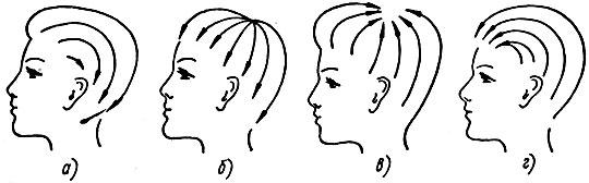 Рис. 83. Основные типы причесок
