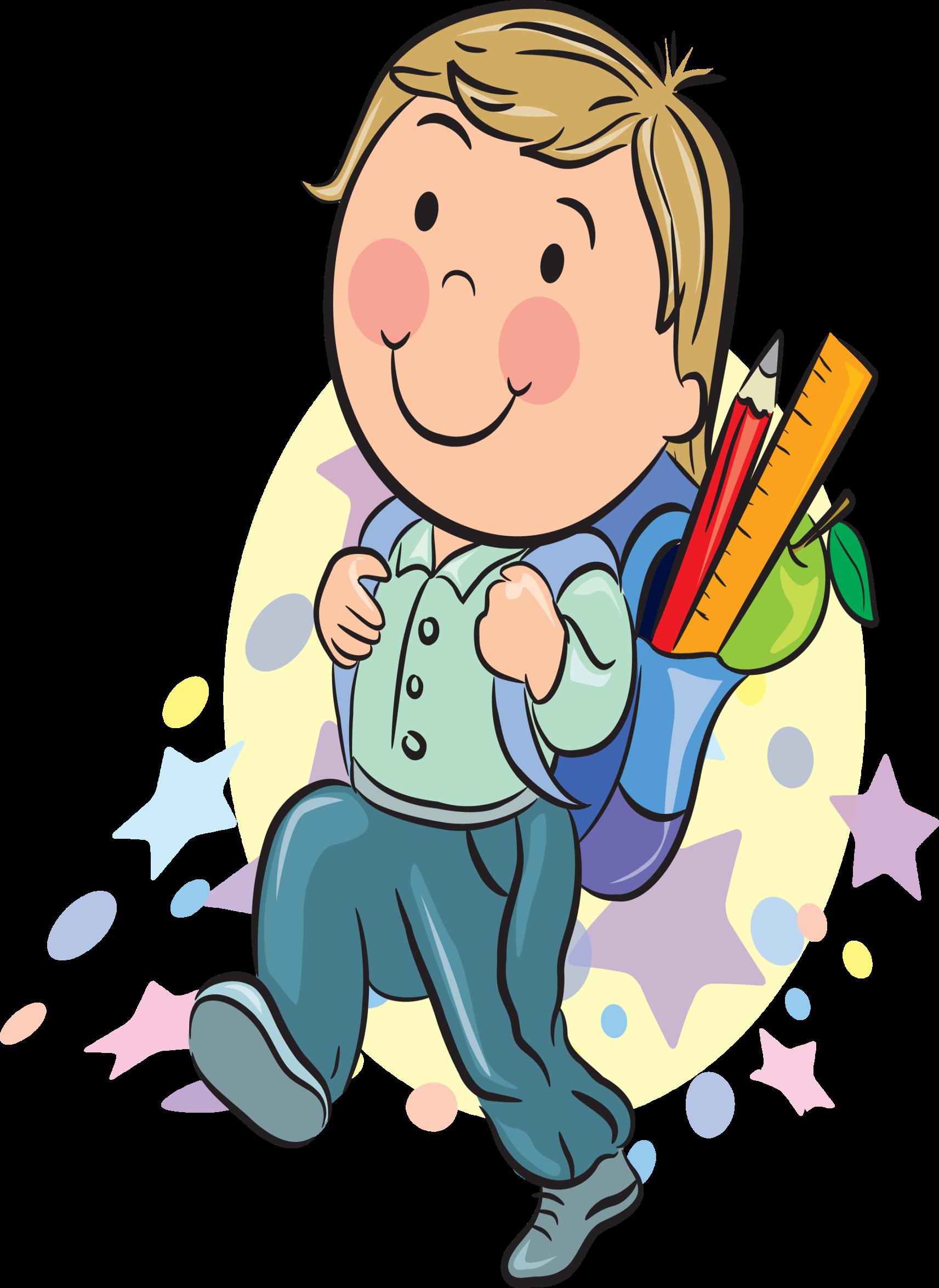 Веселый школьник картинка