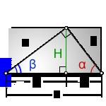 Формулы высоты прямого угла в прямоугольном треугольнике