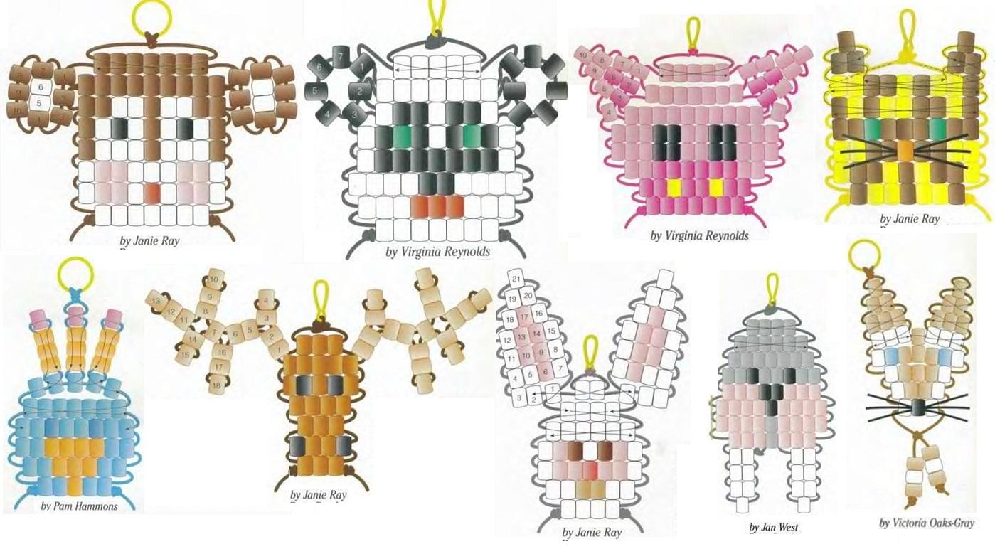 Животные бисера схемы