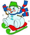 Снеговик на санках.bmp