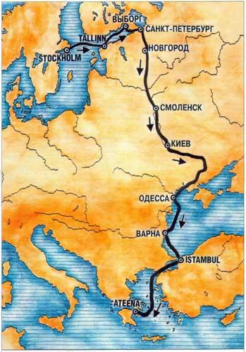 Путешествия. Путь из варяг в греки. - Глеб Лебедев : Из варяг в греки под парусом и на веслах