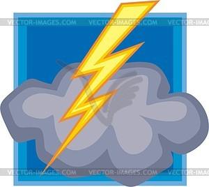 Молния - стоковое векторное изображение