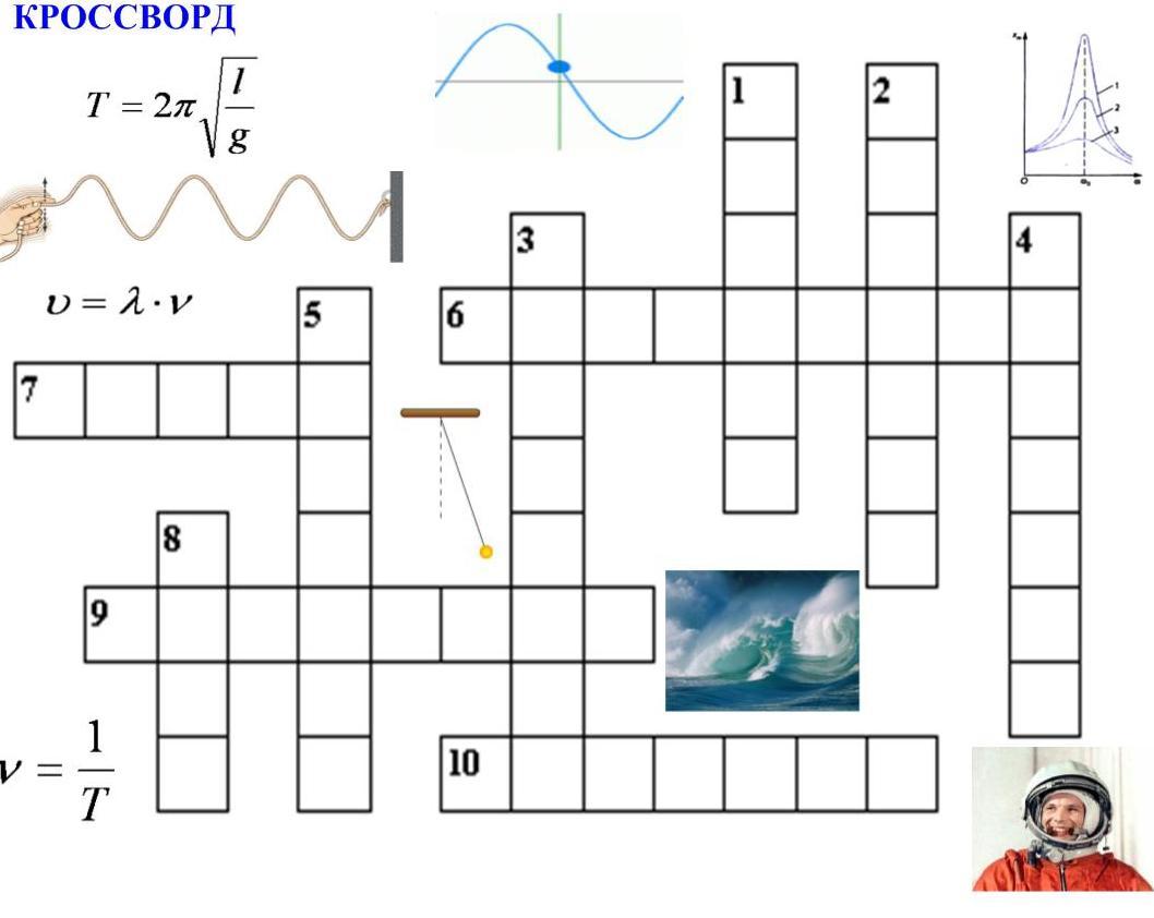 Составить кроссворд по физике 7 класс перышкин