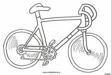 Раскраска велосипед скачать онлайн бесплатно, распечатать. - Велосипеды - Техника - Каталог изображений - Строительство и ремон,
