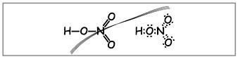 Рис. 1. Неверные структурная и электронная формулы азотной кислоты
