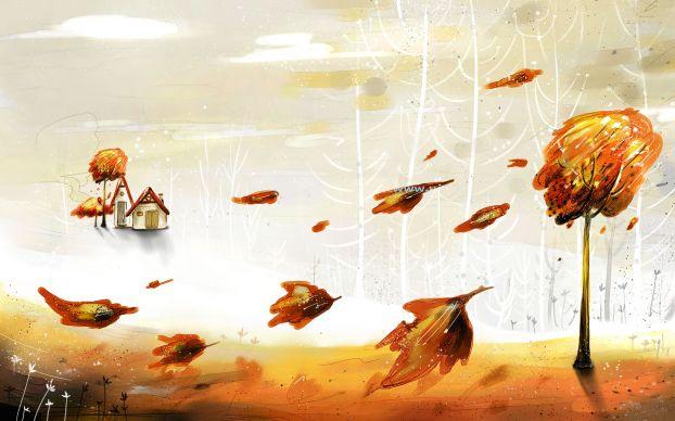 Ветер осенью картинки