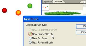 new scatter brush