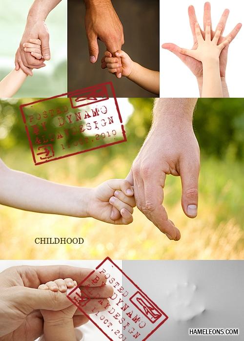 Рука ребенка и взрослого - растровый клипарт | Hand the child and adult clipart